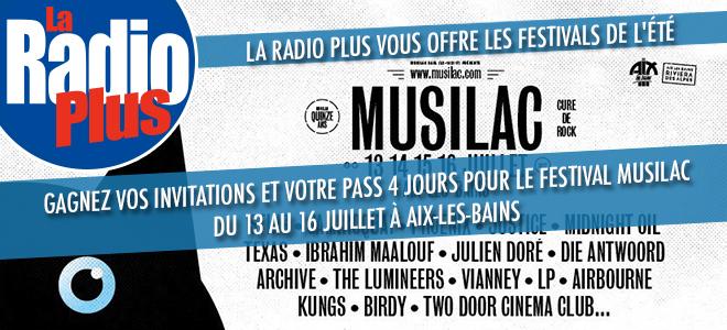 Gagnez vos invitations pour le Festival Musilac