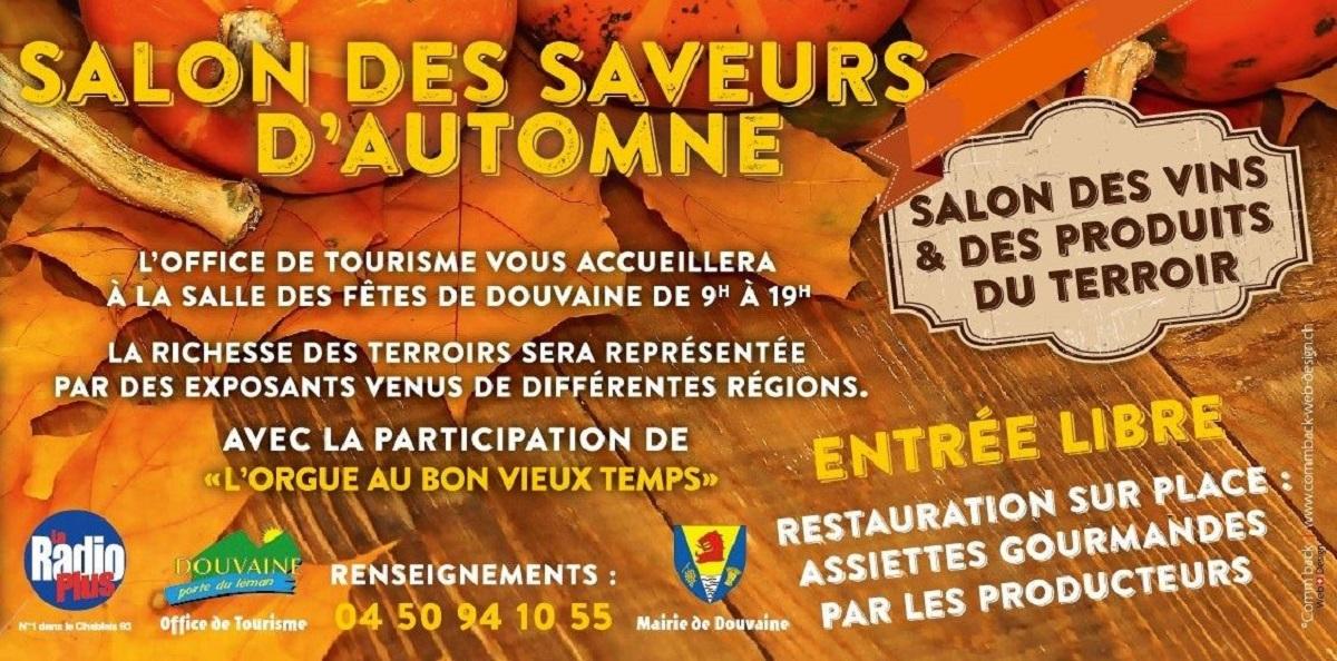 Partenaire salon des saveurs d 39 automne a douvaine agenda for Salon des saveurs