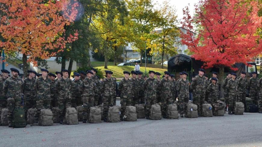 Les soldats réservistes en exercice en Isère