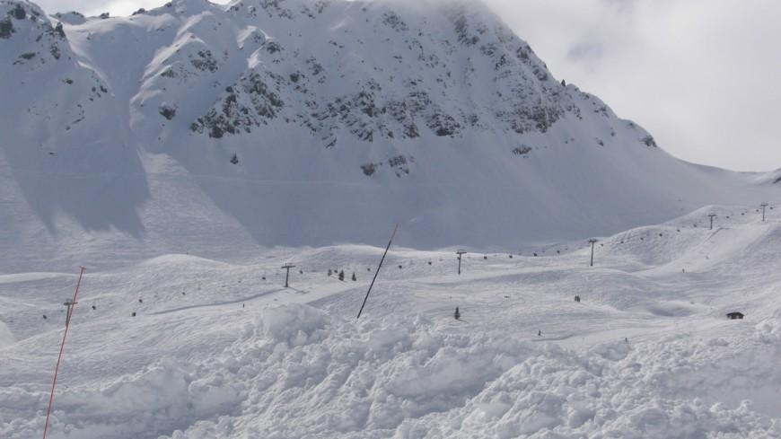 Une avalanche au contamine-montjoie