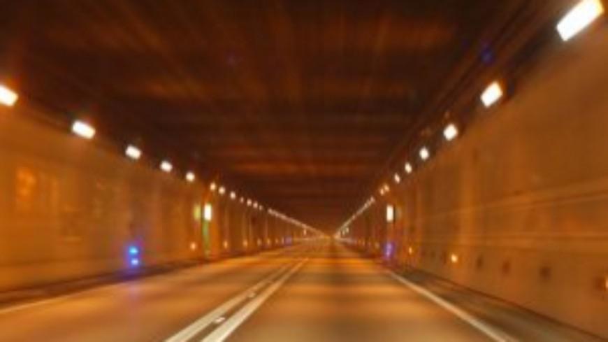 Le tunnel du Mont Sion à Andilly fermé