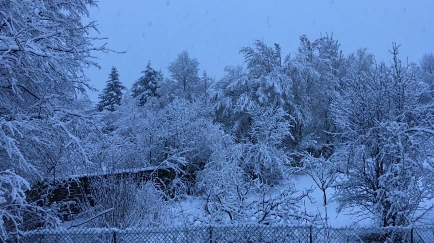 La neige a fait son retour en pays de Savoie !