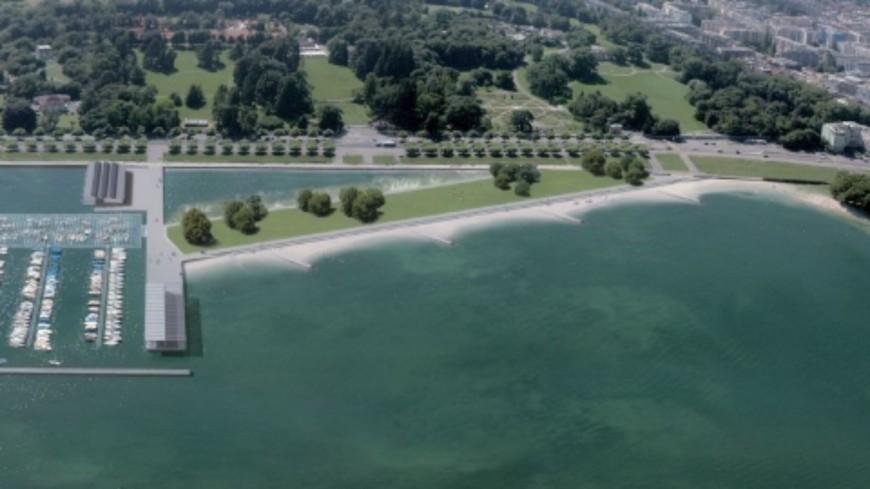 Genève : une nouvelle plage aux Eaux-Vives