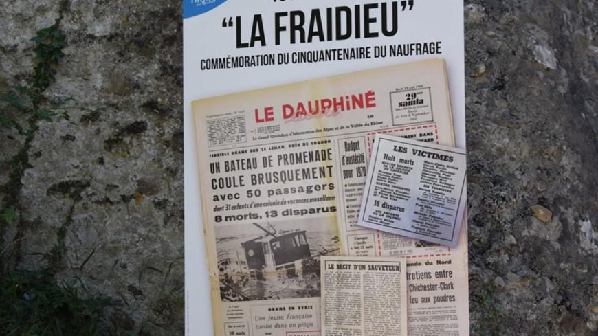 """Thonon : les 50 ans du naufrage du """"Fraidieu"""""""