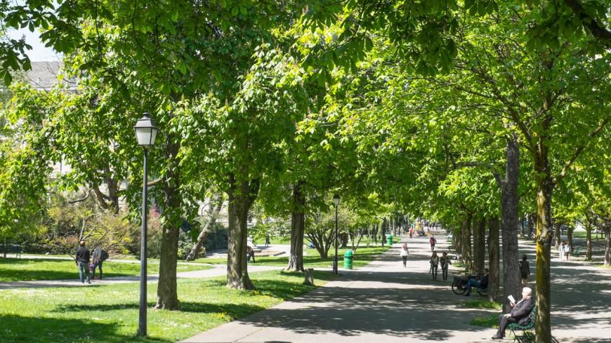 Le climat au parc des Bastions à Genève