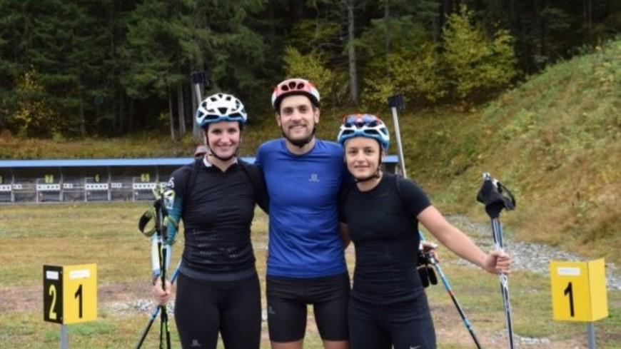 L'équipe de France de biathlon aux Contamines