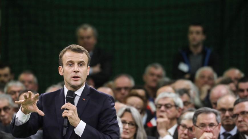 Emmanuel Macron au pied du Mont-Blanc