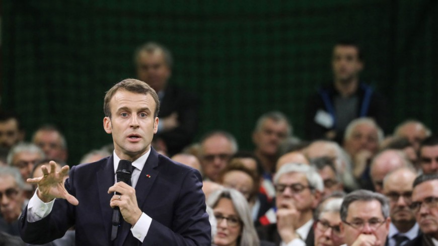 Mont-Blanc : Macron face au changement climatique