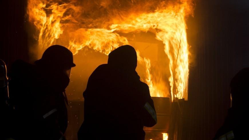 Un incendie à Chamonix à l'aube