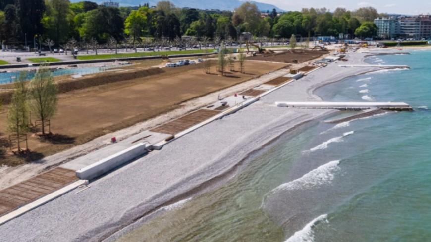 Genève : la Plage Publique des Eaux-Vives ouvrira en août !