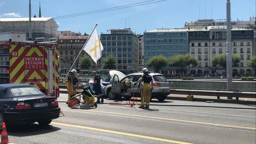 Grave accident sur le pont du Mont-Blanc