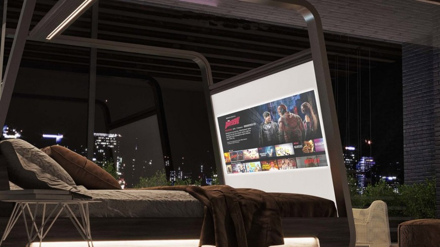 Découvrez ce lit high-tech avec enceintes et vidéoprojecteur intégrés !