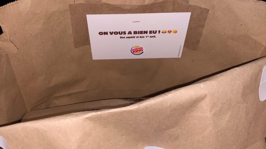 Burger King fait livrer ses commandes dans un sac McDo !