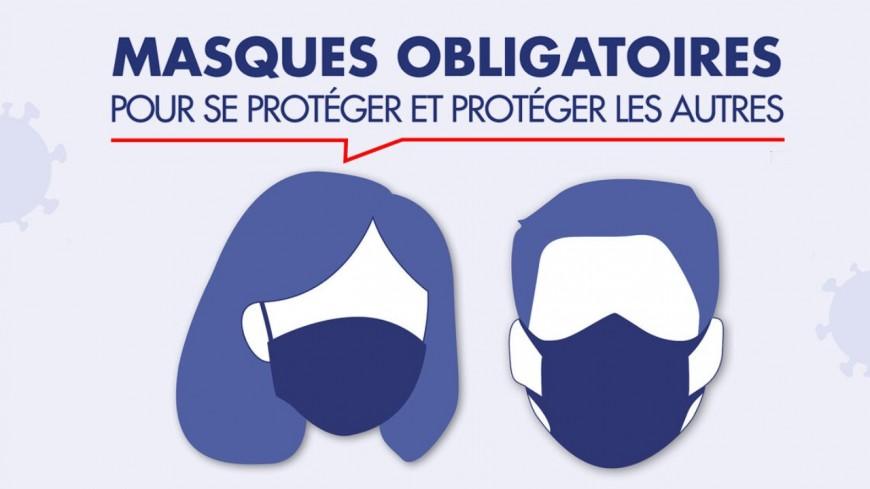 Port du masque obligatoire dans certaines zones d'Annemasse