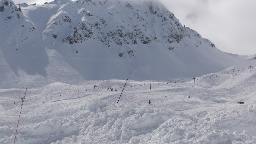 Un risque d'avalanche en Haute-Savoie