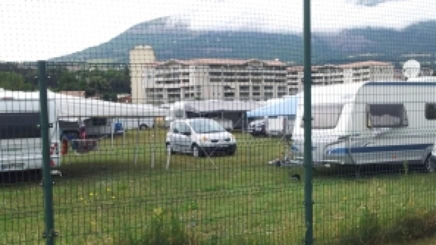 Des caravanes installées à Thonon
