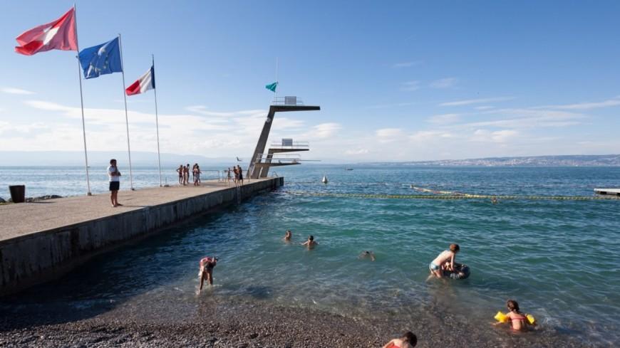 Evian certifiée pour ses eaux de baignade