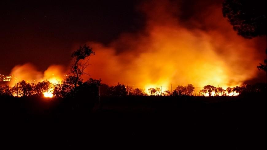 Un feu de forêt à Samoëns ce mardi