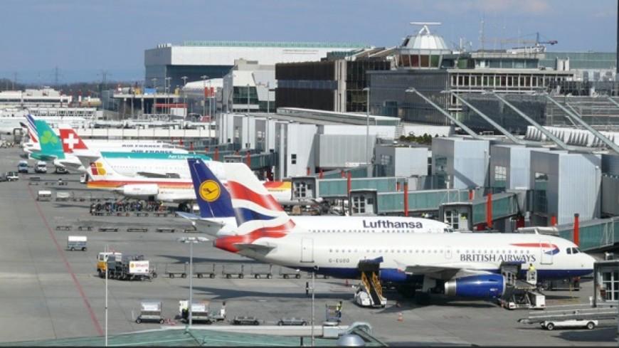 Une terrasse panoramique à l'aéroport de Genève