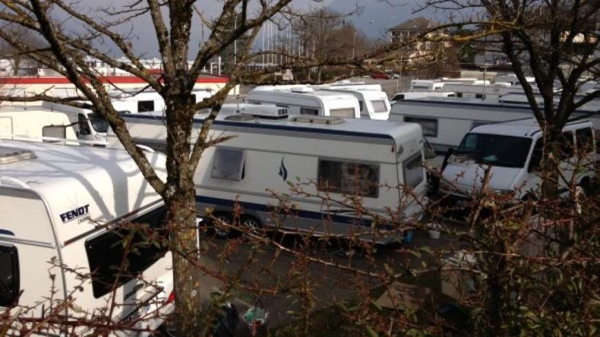 150 caravanes sont arrivés à Bonneville