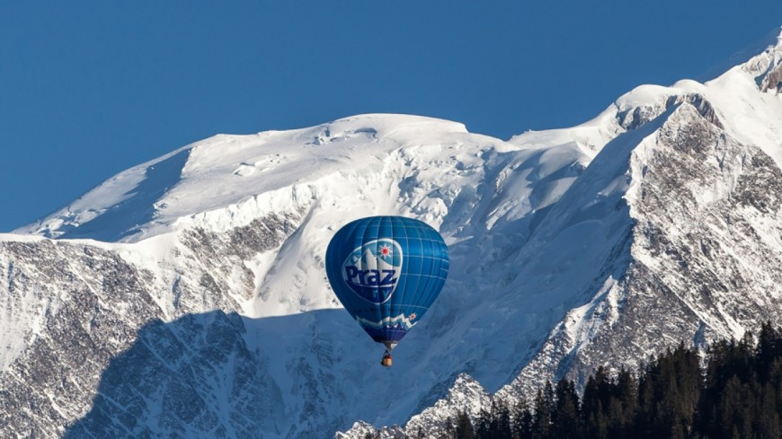 Praz-sur-Arly : des montgolfières dans le ciel