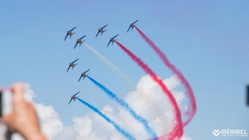 Show de la Patrouille de France à Méribel