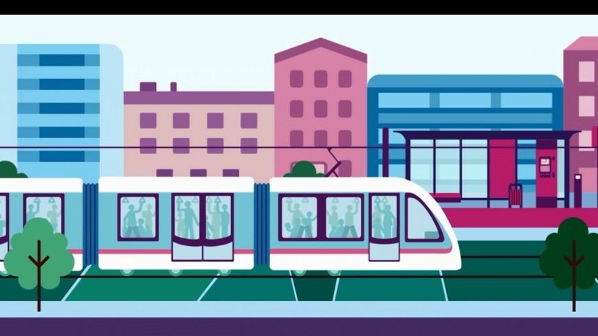 Annemasse : le tracé du tram en 3D