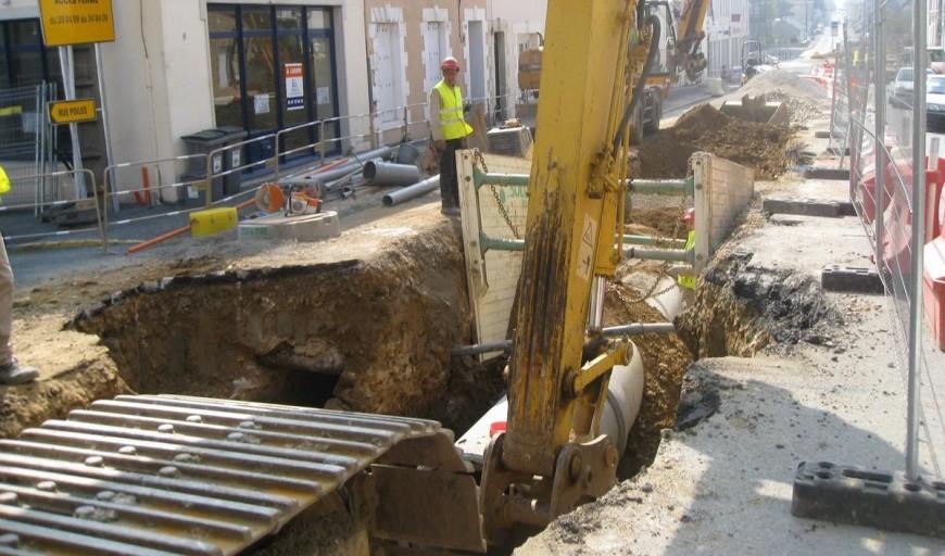 Les travaux reprennent au carrefour d'Etrembières