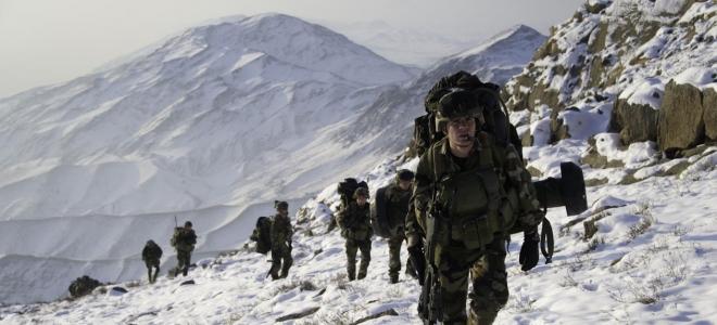 Les chasseurs alpins en exercice en Savoie