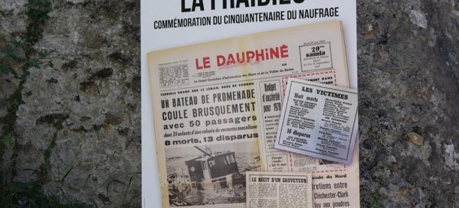 """50ème anniv. du naufrage du bateau  """"La Fraidieu"""" à Thonon"""