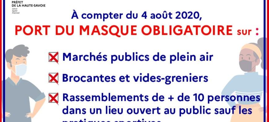 Port du masque obligatoire en Haute-Savoie