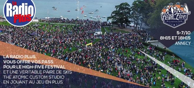 La Radio Plus vous offre vos pass pour le High Five Festival