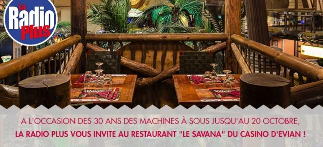 La Radio Plus vous invite à dîner au Casino d'Évian